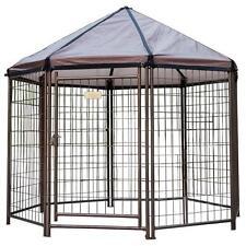 Outdoor Dog Kennel Medium House Crate Cage Enclosure Pet Gazebo Patio Deck Yard