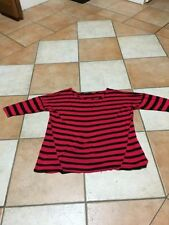 Viscose 3/4 Sleeve Casual Striped Tops & Blouses for Women