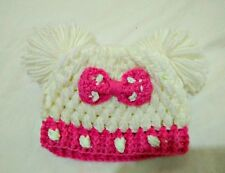 Hand-knit baby hat with Mickey Ears