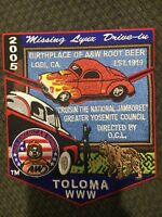 MINT 2005 Jamboree 2 Piece OA Flap Set Lodge 64 Toloma AW Root Beer
