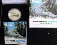 2013 1OZ FINE SILVER PROOF COLOUR AUS $1 COIN BOX'S + COA BINDI THE CROCODILE