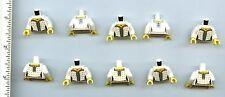 LEGO x 10 White Torso Castle Female Corset with Gold Diamonds, Blue Laces Castle