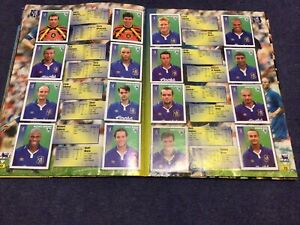 Merlin's Premier League 97 sticker Team Pages Chelsea