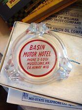 Tri Lobe Ashtray Acl Basin Motor Hotel Moses Lake Washington Advertising