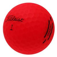 120 Titleist TruFeel Matte Red Mint Used Golf Balls AAAAA*No Markings or Logos!*