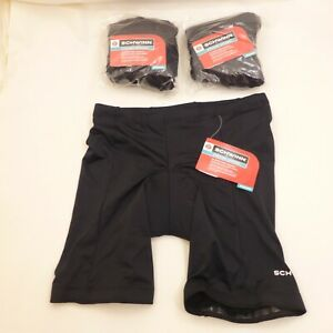 LOT OF 3 PAIRS Womens LARGE Schwinn Classic Bike Shorts Black Padded Cycling