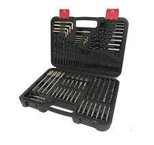 150 Piece Drill Bit Set HSS Masonry Wood Flat Pozi Bits Sockets Allen Key & Case
