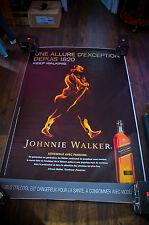 JOHNNIE WALKER B 4x6 ft Bus Shelter Original Food Alcohol Advertising Poster