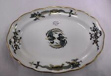 """Meissen 'Green Dragon' with Gold Accents oval Platter 9"""" x 6 1/2"""" - REDUCED PRIC"""