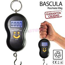 Bascula de mano para Pesar Maletas Equipaje Máximo 50kg Pantalla LCD Digital