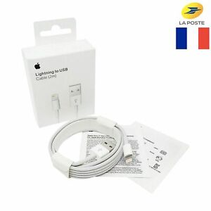 CÂBLE IPHONE 2METRE ORIGINAL CHARGEUR APPLE LIGHTNING USB 5/SE/6/7/8/X/XR/XS/11