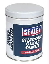 Sealey SCS102 Silicona Transparente Grasa 500g Estaño