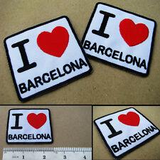 1 x I Love BARCELONA Iron On Patch Football Soccer Club UEFA Champions League