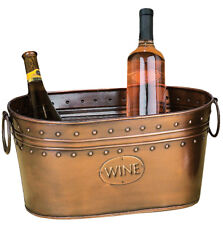 GwG Outlet Unique Wine Cooler and Ice Bucket in Antiqued Copper Finish 29298