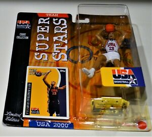 2000 Tim Duncan Mattel Super Stars Team USA Uniform free shipping