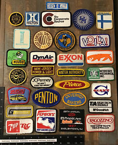 LOT OF 30 VINTAGE PATCHES GAS OIL TRANSPORTATION COMPANY RACING HILTON