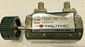 Trilithic TA-73 Variable Step RF Attenuator 0-1 dB (0.1 dB steps) 75 ohm BNC