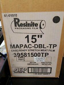 """AEP Resinite MAPAC-DBL-TP CASE READY Stretch Meat Film Clear 5000' L x 15"""" W"""