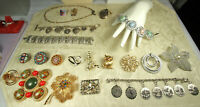 Sterling/Costume Jewelry LOT 90pcs GIVENCHY BEAU CORO SPADE JOHNSON COVENTRY JLO