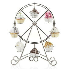 8-Cup Rotating Metal Ferris Wheel Cupcake Party Stand Muffin Holder Rack Stand