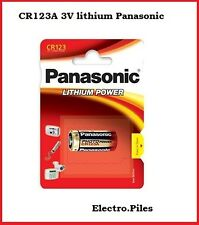 Battery special photo CR123 lithium Panasonic, 2 BATTERIES BOUGHT = 1