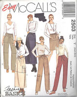 McCall's 2503 Misses' Pull-On Pants and Skirt - Sizes 4 to 10 - Sewing Pattern