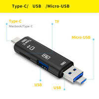 TF OTG to USB 2.0 Memory Card Reader Adapter for Type-C Android Mobile Phone