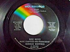 Rose Royce Car Wash / Water 45 1976 MCA Disco Funk Vinyl Record