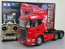 Use Tamiya R/C 1/14 Scania R620 Highline Semi Truck +Futaba +Servo +ESC +Battery