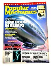 Vintage Popular Mechanics July 1986 New Blooms in Blimps Ronald Reagan