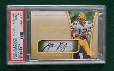 Aaron Rodgers AUTO rookie card RARE #d /35 - 2005 Exquisite Packers autograph RC