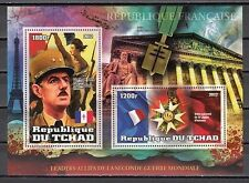 Chad, 2012 issue. Charles de Gaulle s/sheet