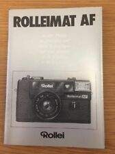 Original Rolleimat AF In Practical Use Manual, Instruction Book Genuine