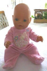 Baby Born Puppe Größe 43 cm blaue Augen Mädchen