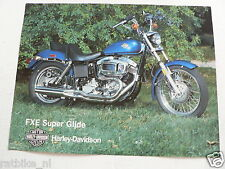 D549 HARLEY-DAVIDSON BROCHURE FXE SUPER GLIDE  2 PAGES NOT 100 % OK