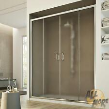 SHOWER SCREEN SHOWER DOOR ENCLOSURE STIPPLED GLASS 2 SLIDING DOORS 1300MM