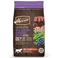 Merrick Grain Free Real Venison & Chickpeas Recipe Dry Dog Food, 4 lbs. .