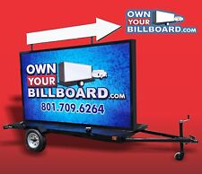 MOBILE BILLBOARD TRAILER WITH ARROW SIGN MULTICOLOR WITH VINYL BANNERS 6' x 10