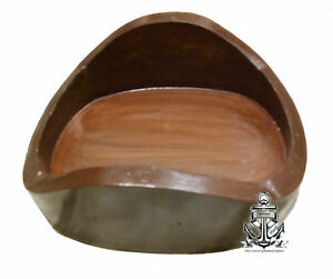 """Wooden Base 18"""" Diving Helmet Base Nautical Decor Replacement Divers Stand"""