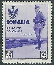 1935 SOMALIA VISITA DEL RE 50 CENT MH * - RB32-8