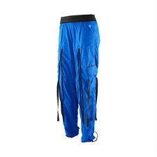 Zumba Craveworthy Zip Cargo Pants Surfs Up Blue in Medium New Free Shipping!