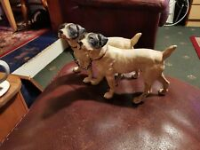 RARE LARGE  PAIR OF ANTIQUE COLD PAINTED DOGS