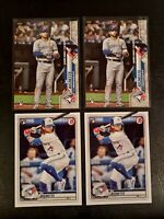 Lot of 4 w/ 2020 Topps Update Bo Bichette ROOKIE Card RC Blue Jays #1 + bowman