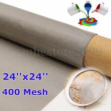 New 316 Stainless Steel 400 Mesh Filtration 61*61cm Woven Wire 24'' X 24''