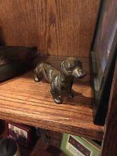 Vintage Style Daschund Weenie Dog Cast Iron Dash Hound figurine