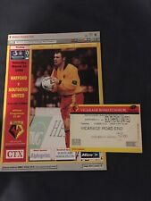 More details for watford v southend united & ticket march 14th 1998