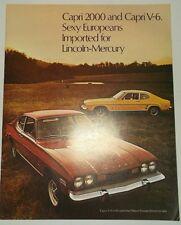 1973 Mercury Capri 2000 V-6 Brochure Original