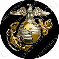 Premium Round 3M Epoxy Gel Domed Decal or Flat Sticker - USMC Marine Corps EGA