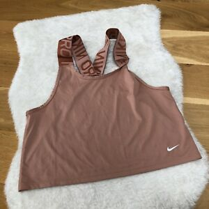 Nike Pro Dri Fit Pink Cross Back Thick Strap Vest Top Size Small