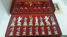 Classic Games Collector's Series Chess Set Ancient Rome Hand Painted